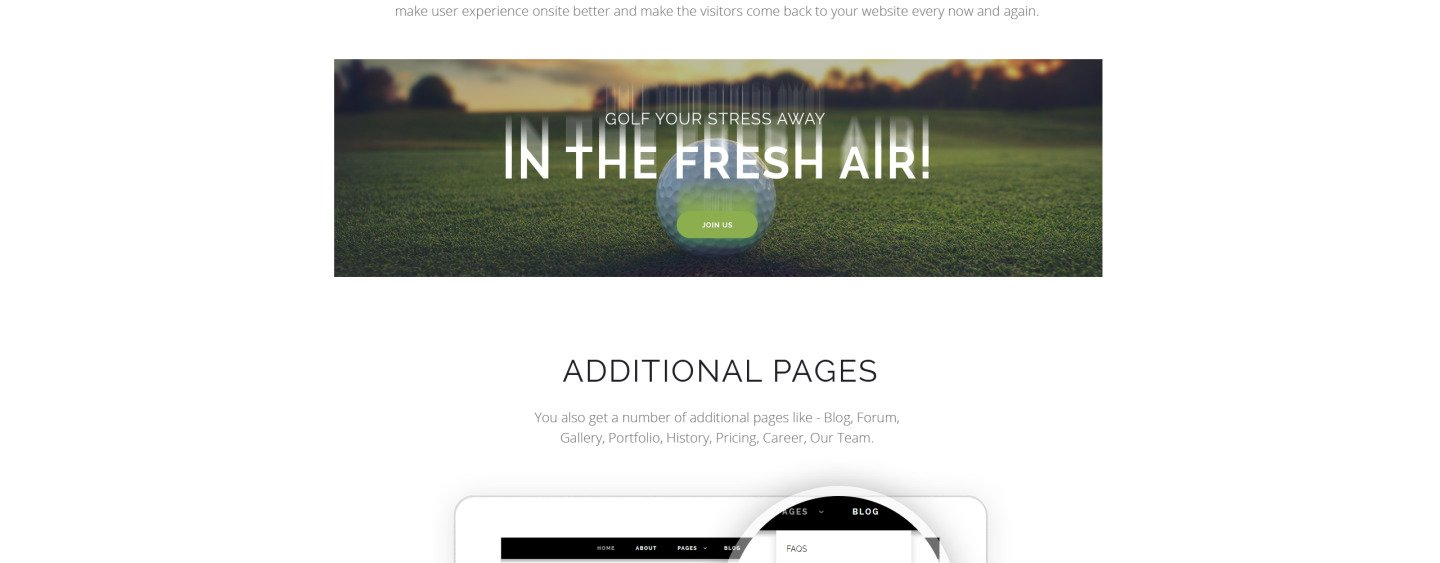 Golf Gold - Golfing Club Joomla Template