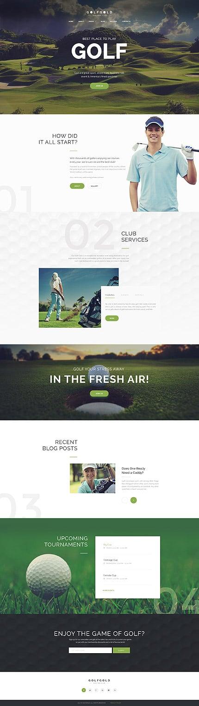 Golf Gold - Golfing Club Joomla Template 3