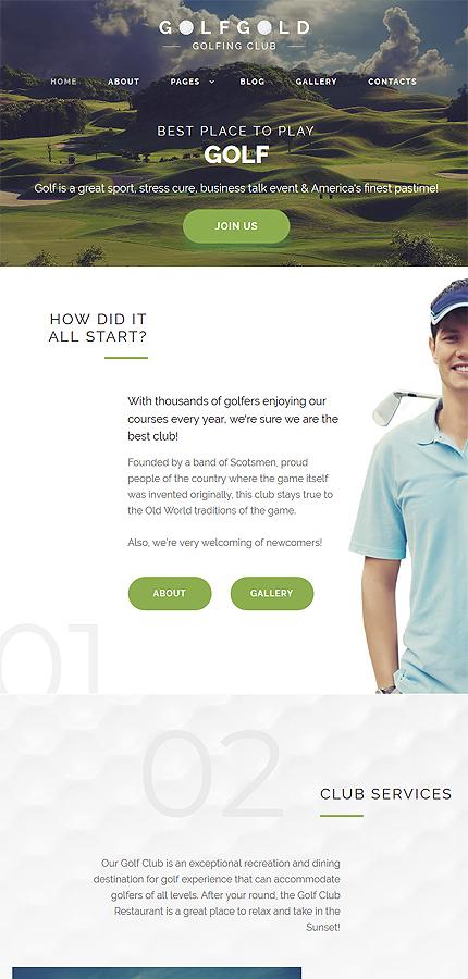 Golf Gold - Golfing Club Joomla Template 4