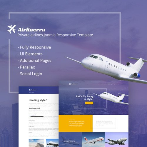 Airlinerra - Private Airline - Joomla! Template based on Bootstrap