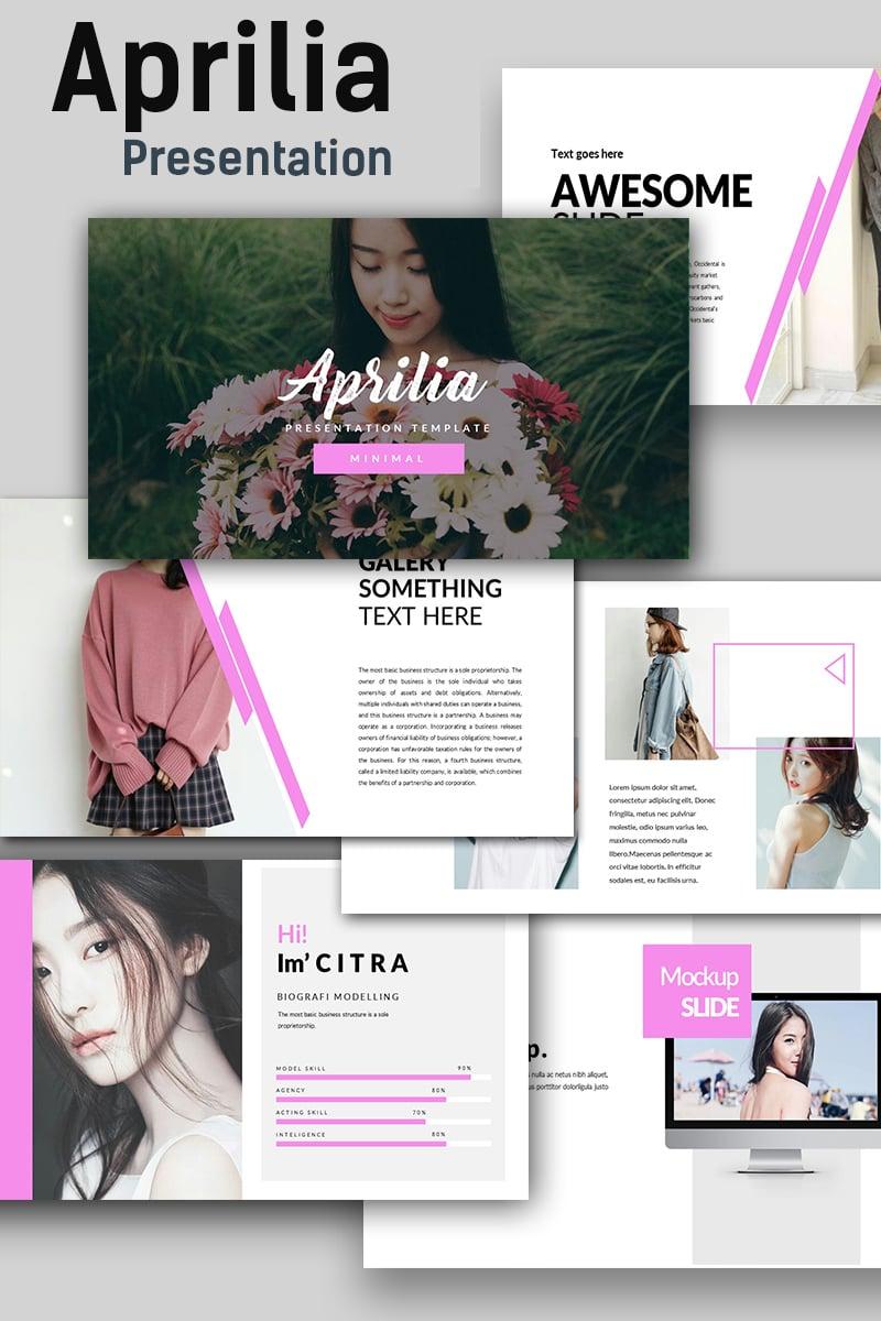 Aprilia Creative PowerPoint Template - screenshot