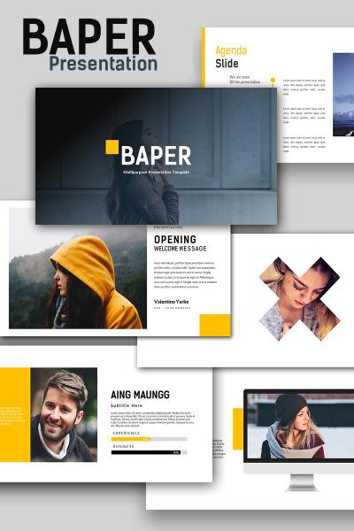 baper creative powerpoint template #65845, Modern powerpoint