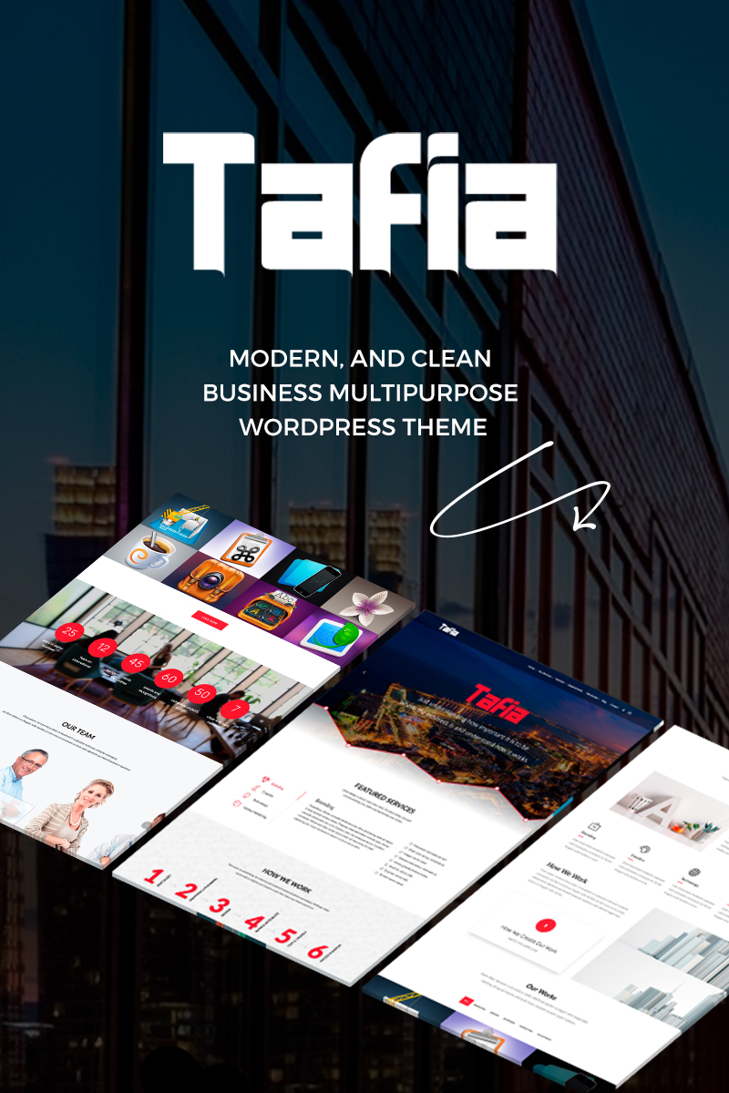 Bootstrap Tafia - Creative Business WordPress sablon 65876 - képernyőkép