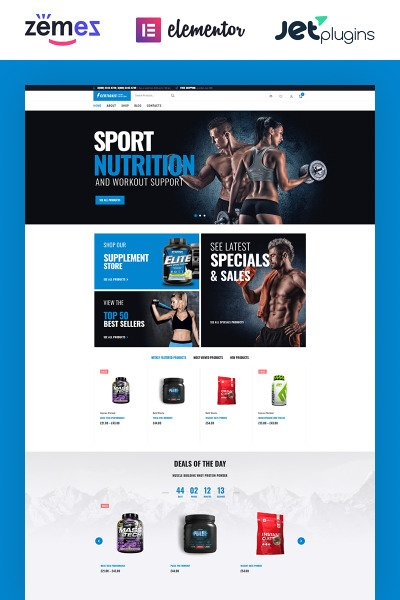 Certionix - Sport Nutrition WooCommerce Theme #65870
