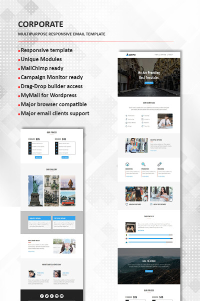 Corporate  Multipurpose Responsive Newsletter Template