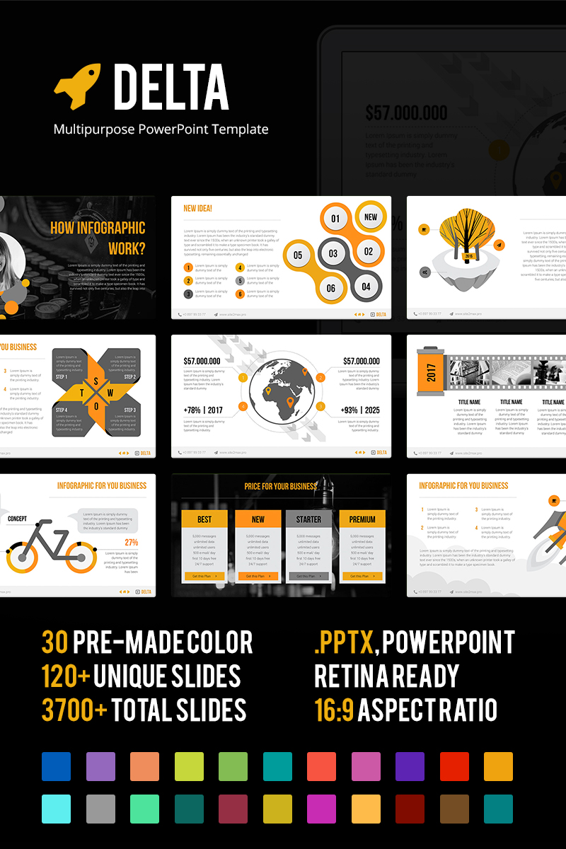 Delta Multipurpose PowerPoint Template - screenshot