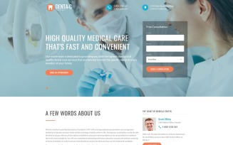 Denta-C Dental Clinic Landing Page Template