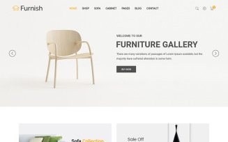 Furnish - Minimalist Furniture Website Template