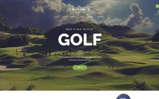Golf Gold - Golfing Club Joomla Template