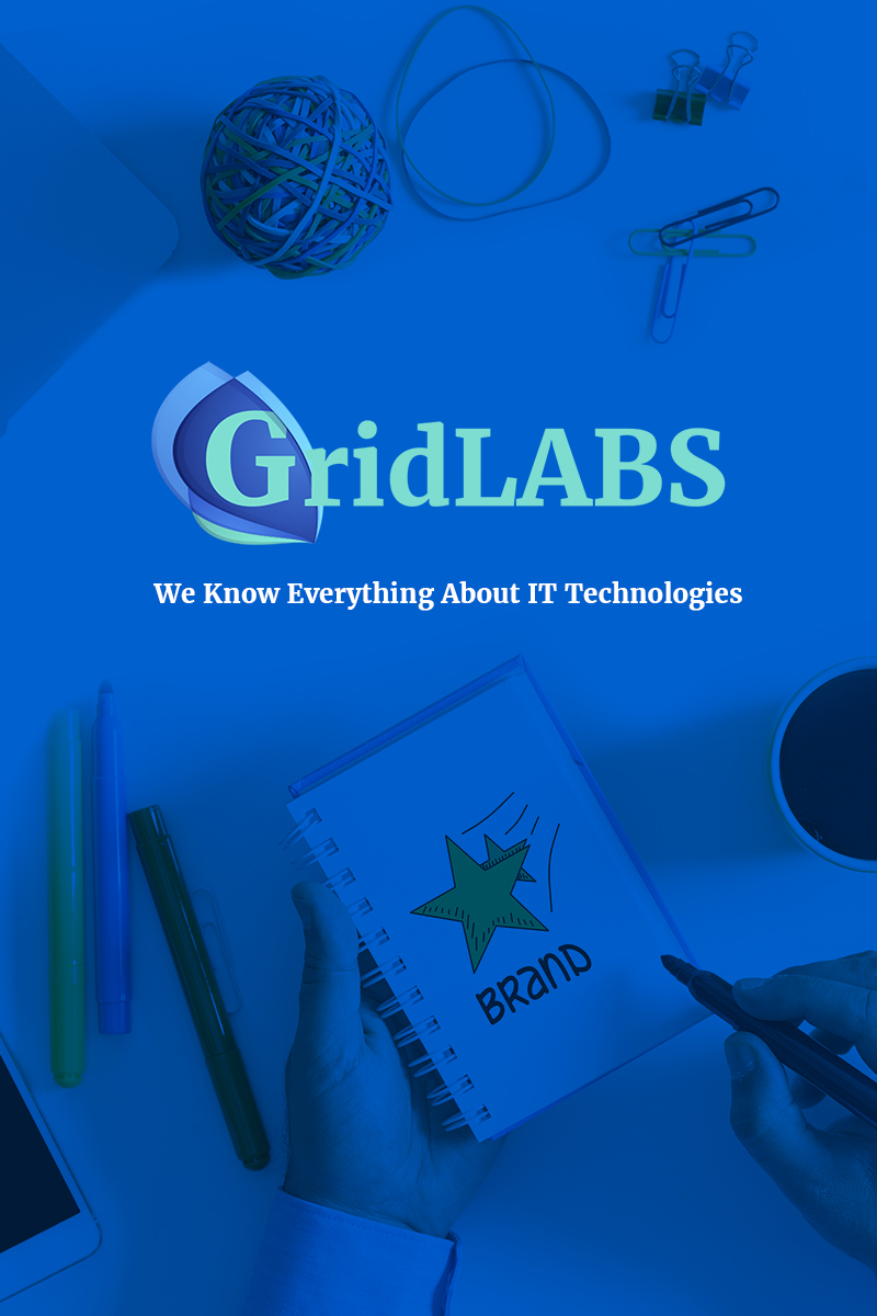 """GridLabs - IT Technologies Company Responsive"" Responsive WordPress thema №65885"