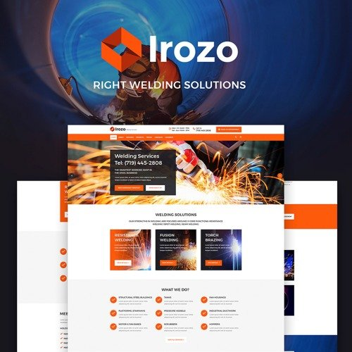Irozo - Welding Services - HTML5 WordPress Template