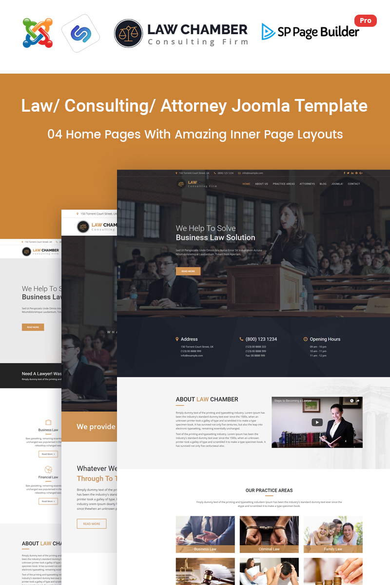 Law chamber law firm joomla template 65838 for Joomla template builder software