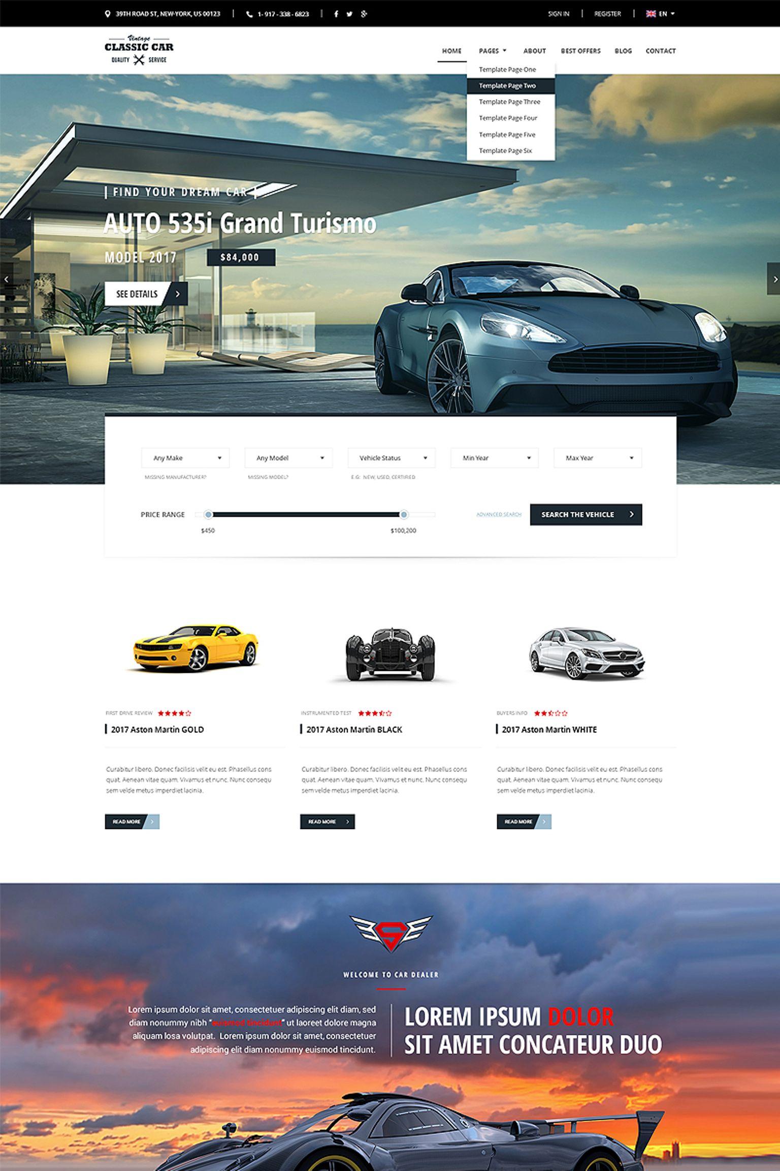 Plantilla Web #65829 para Sitio de Concesionarios de coches