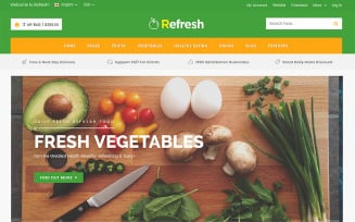 Refresh - Food & Restaurant Website Template