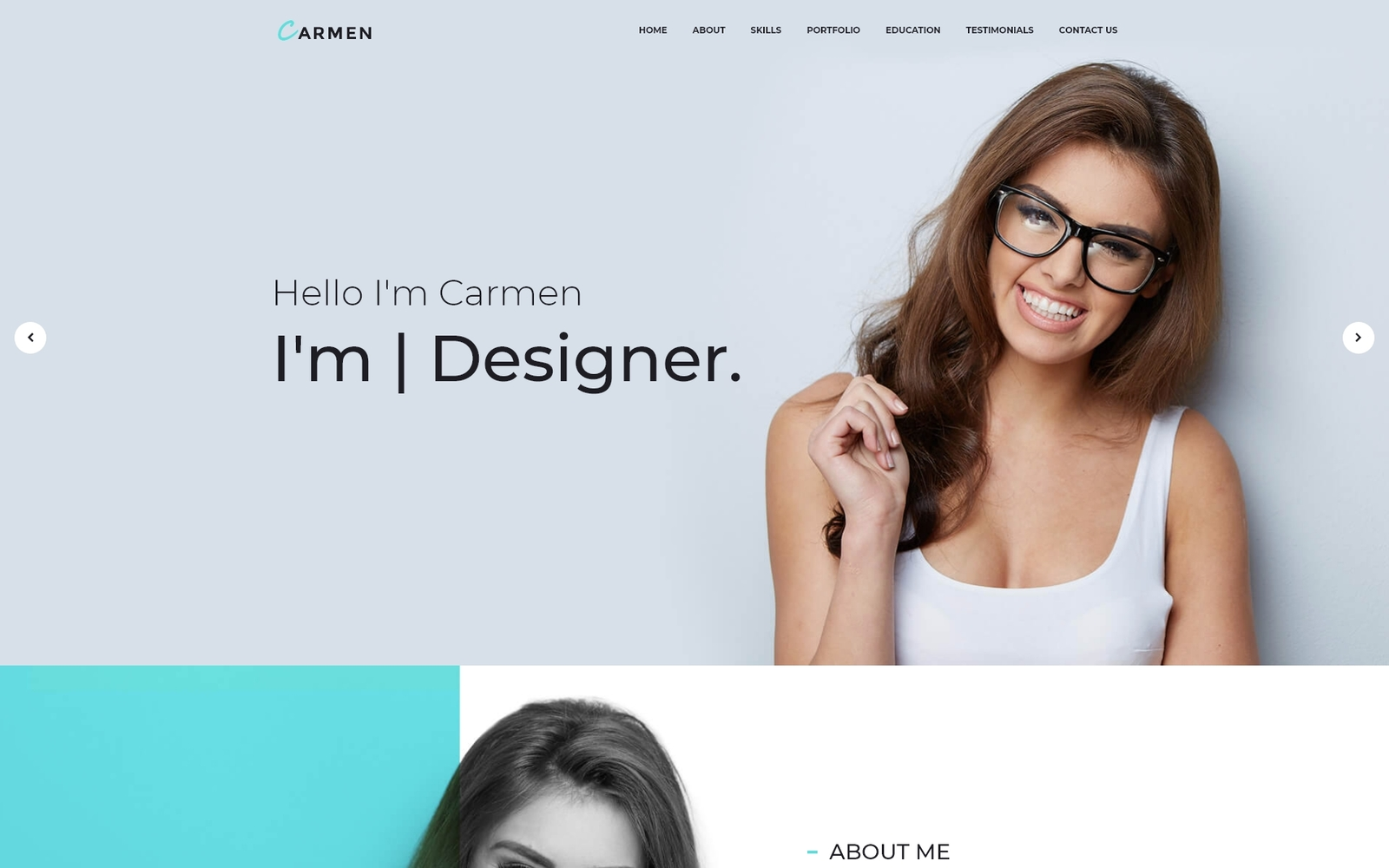 "Responzivní WordPress motiv ""Carmen Design Portfolio"" #65886"