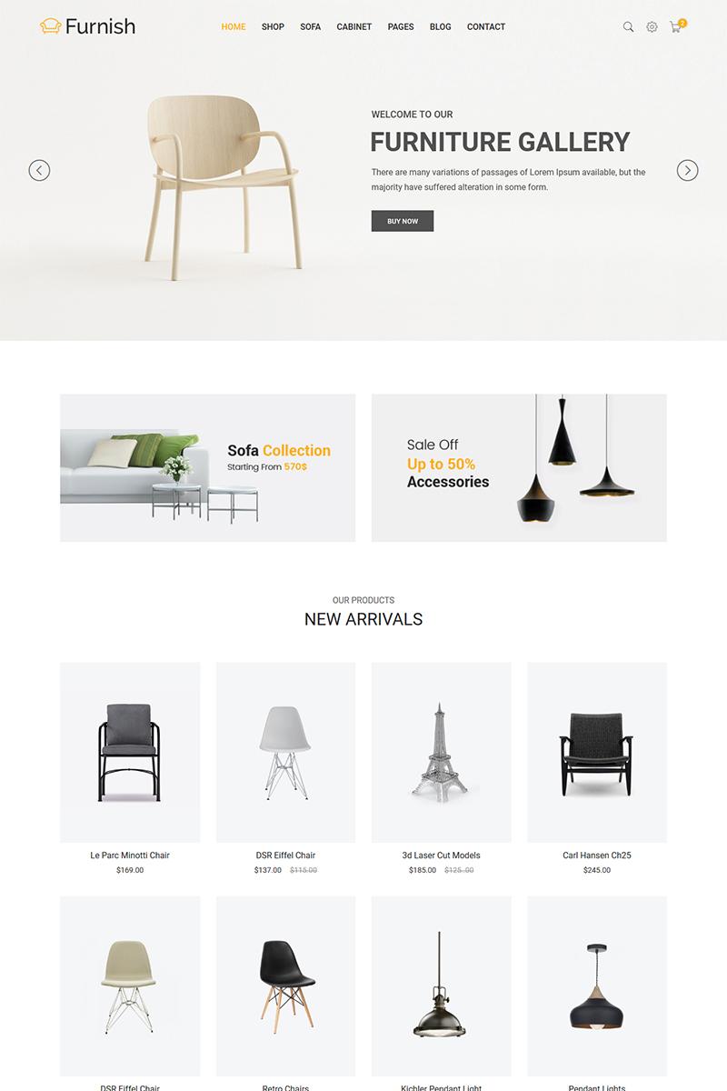 Reszponzív Furnish - Minimalist Furniture Weboldal sablon 65859 - képernyőkép
