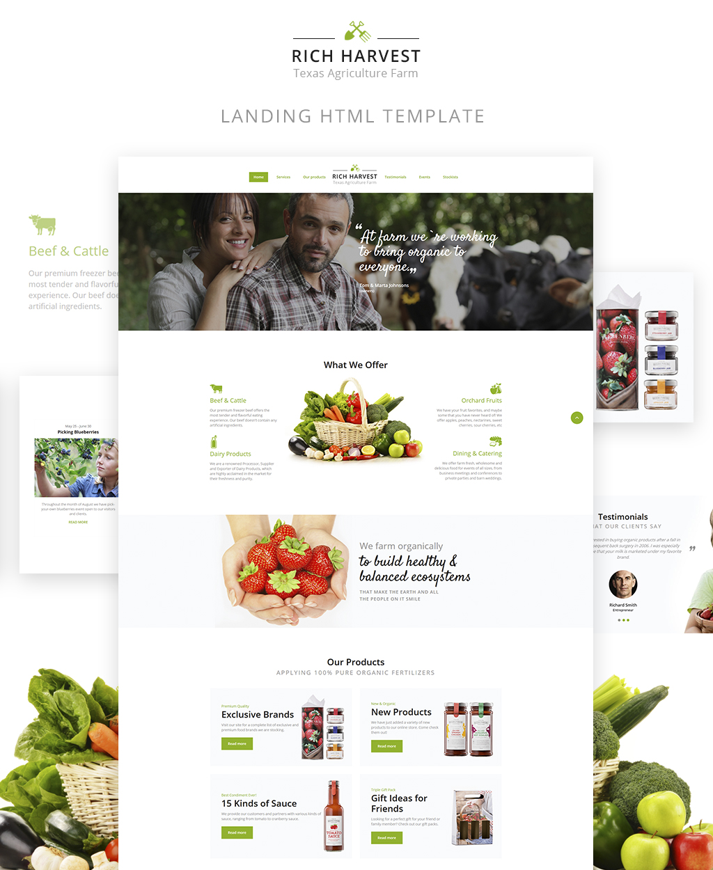 Rich Harvest - Agriculture And Farming Landing Page Template - screenshot