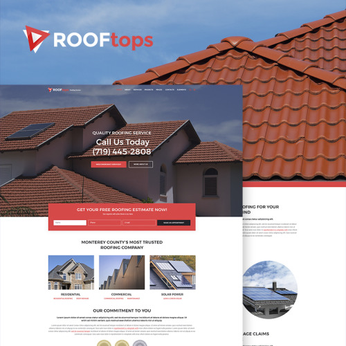 ROOFtops - Roofing Service - HTML5 WordPress Template