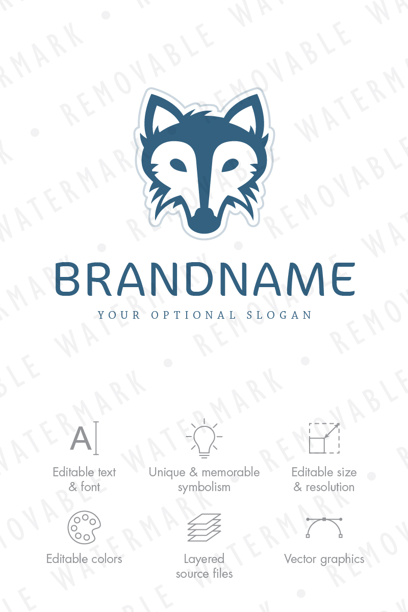 rr dire wolf logo template 65805