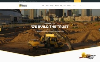 Simply Construction Website Template