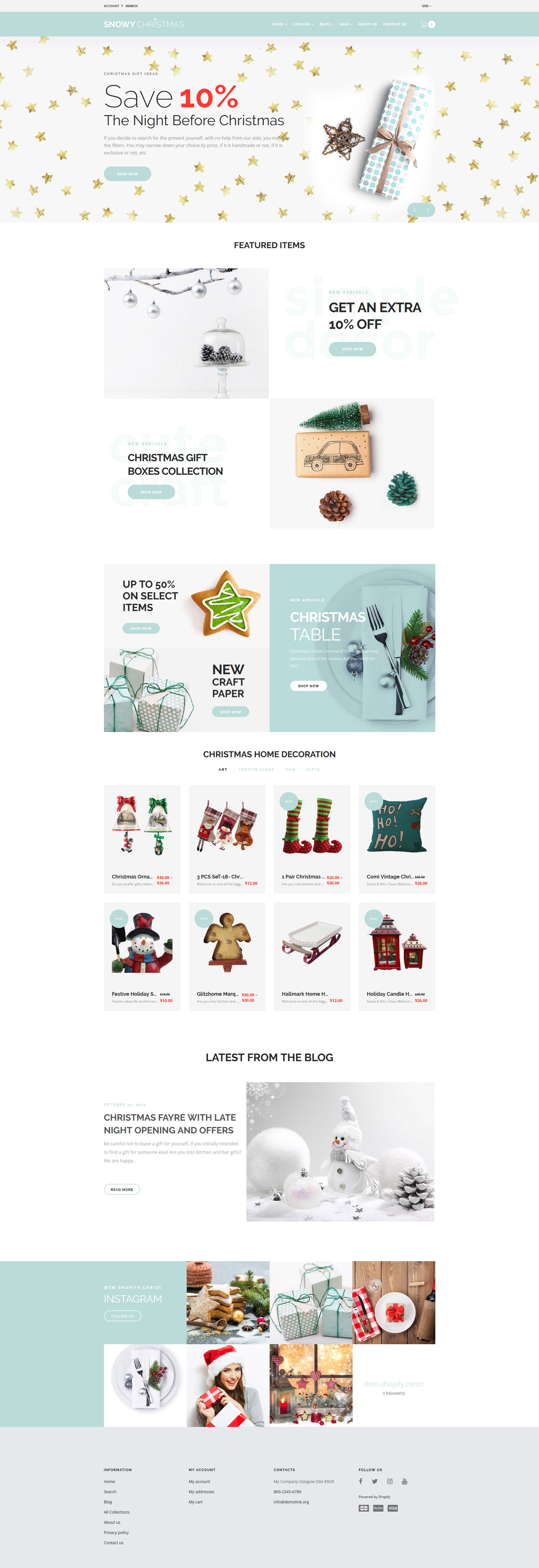 Snowy Christmas - Christmas Gifts Shopify Theme - screenshot