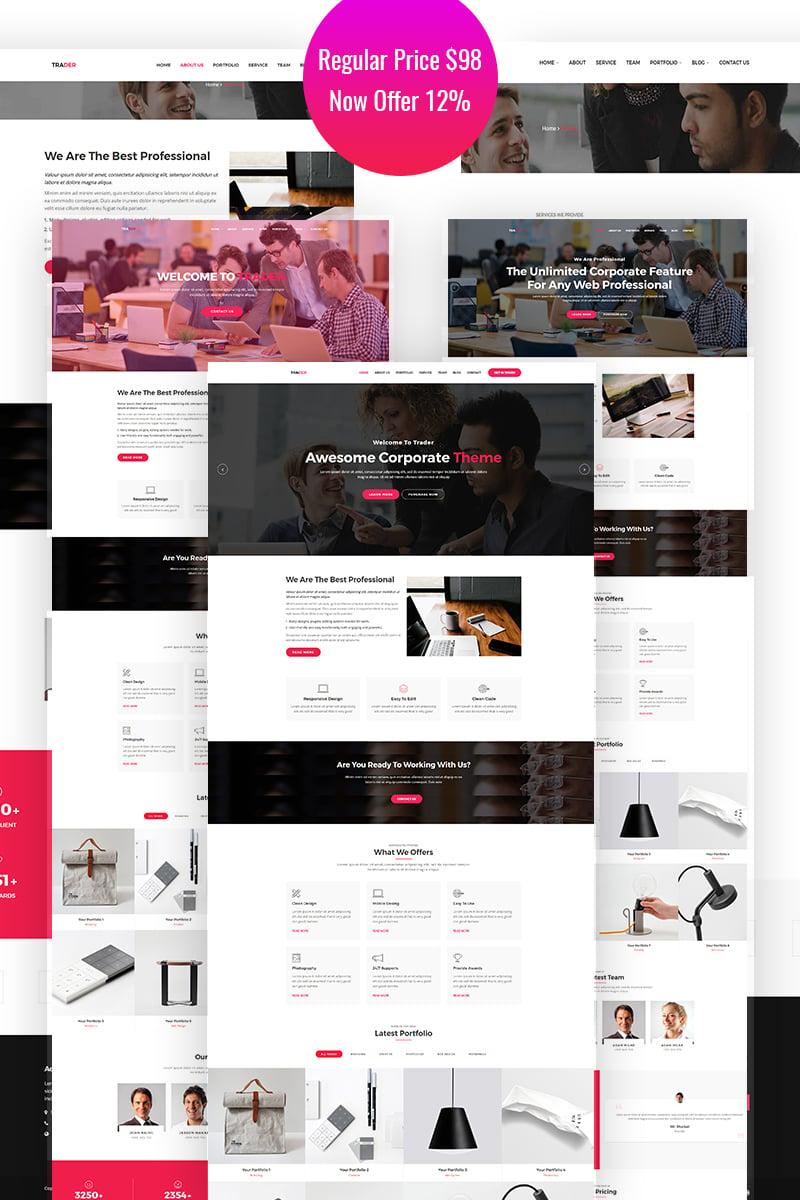 Trader - Responsive  Creative WordPress Theme - screenshot