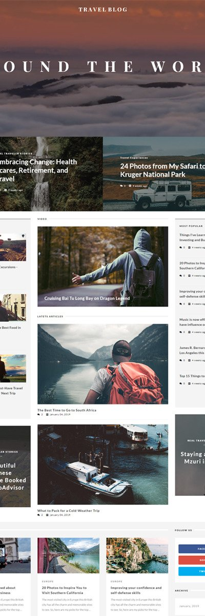 TravelBlog - Travel Guide Joomla Template