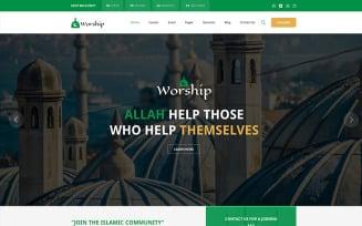Worship - Islamic Center Bootstrap HTML Website Template