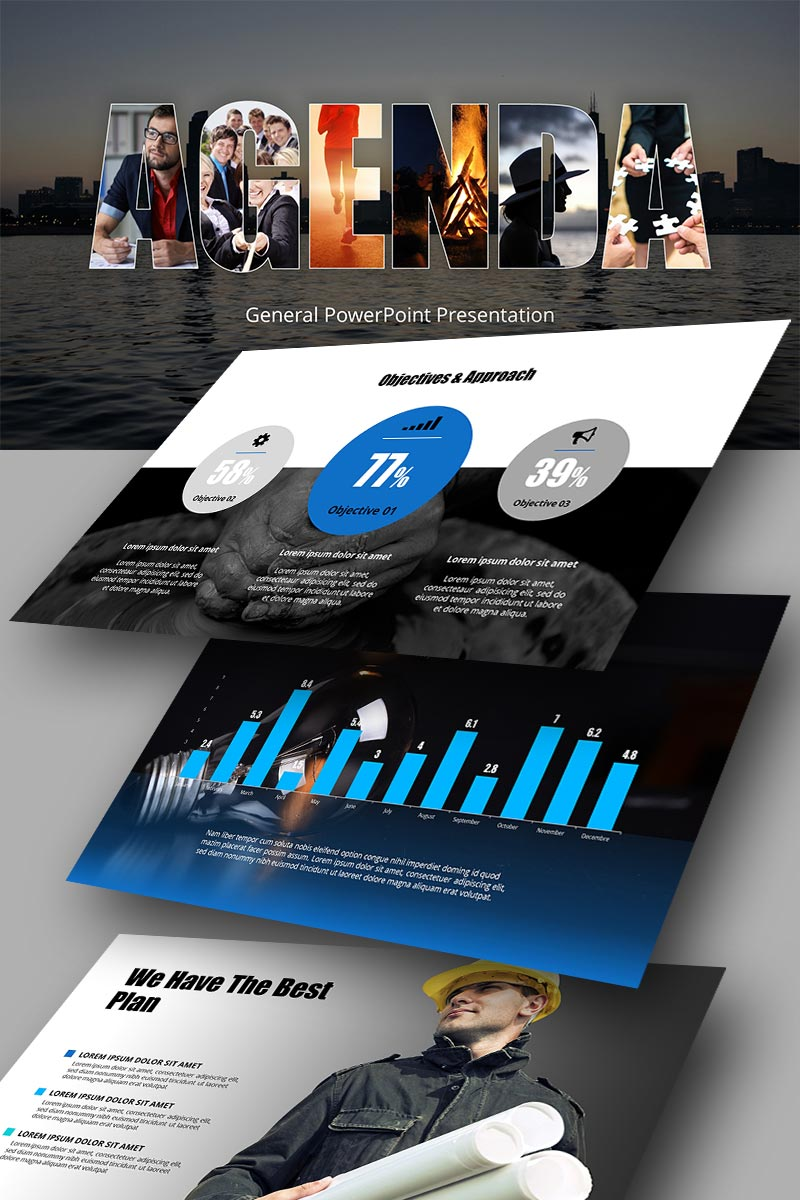 """Agenda"" PowerPoint Template №65950"