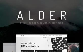 Alder - Modern OnePage WordPress Theme