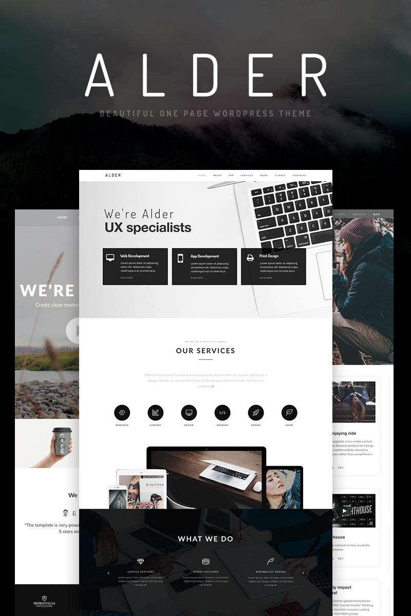 """""""Alder - OnePage"""" 响应式WordPress模板 #65922"""