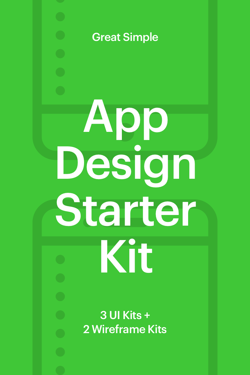 """App Design Starter Kit"" Éléments d'IU  #65952"