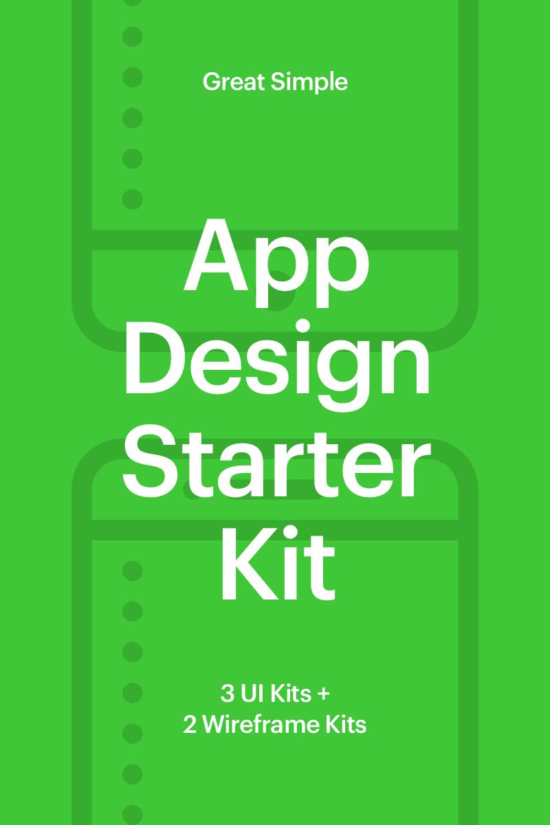 """""""App Design Starter Kit"""" UI Elementen №65952"""