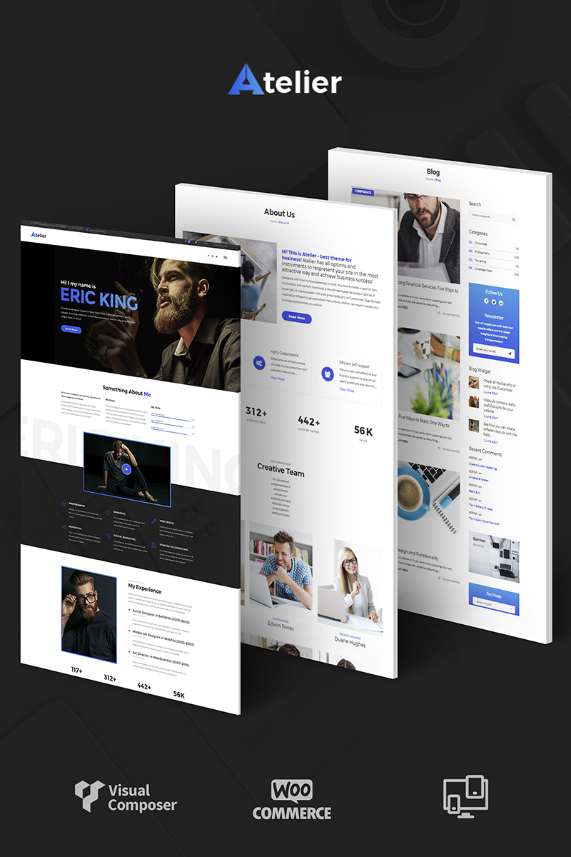 Atelier Design & Photography Template Wordpress #65989
