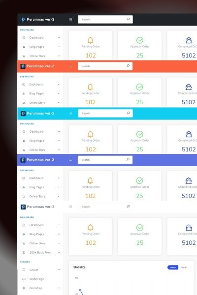 Bootstrap 4 Admin . Suppport 17 Style With Component Fresh Admin Template #65956