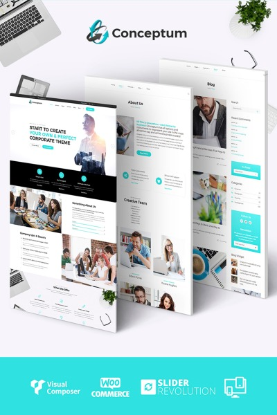 Conceptum - Corporate Responsive WordPress Theme #65934