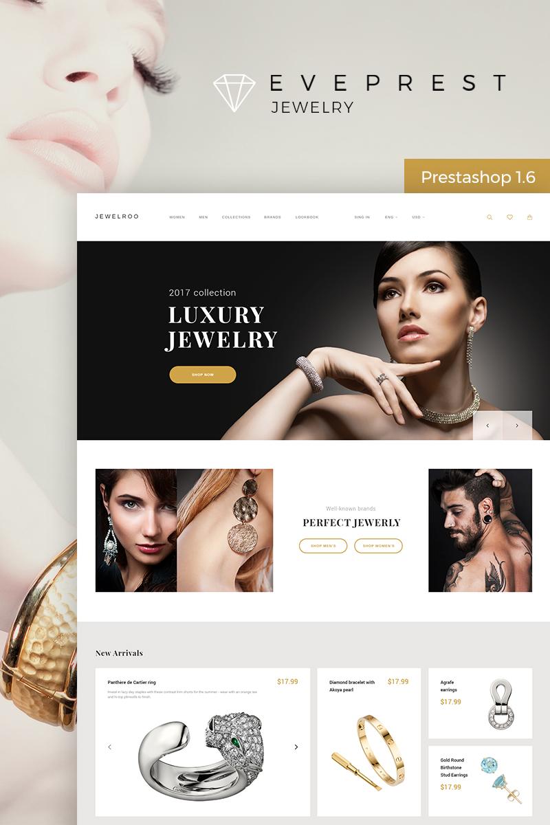 """Eveprest - Jewelry"" - адаптивний PrestaShop шаблон №65983"