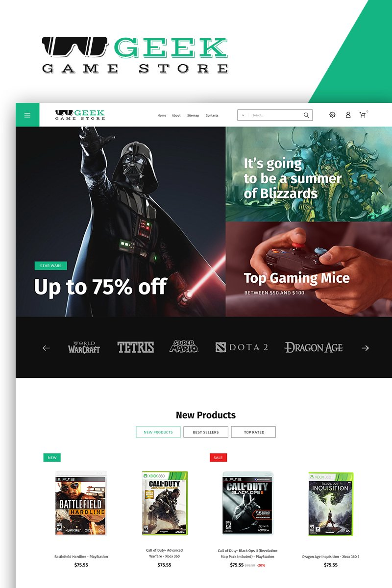 Geek - Game Store PrestaShop Theme