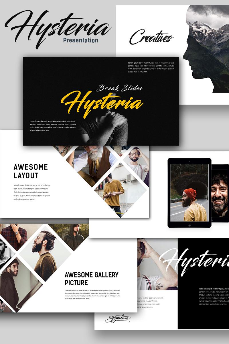 Hysteria Creative Presentation PowerPoint Template - screenshot