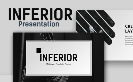 Inferior Creative Presentation PowerPoint template PowerPoint Template