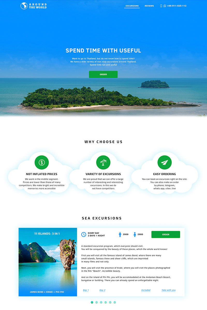Landing Page Travel Psd #65988