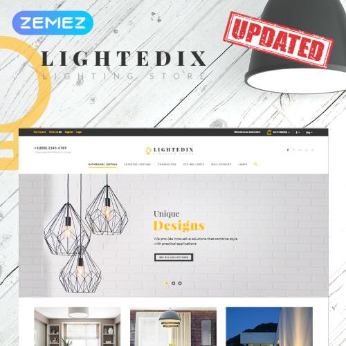 Lightedix - Lighting Store - PrestaShop Template based on Bootstrap