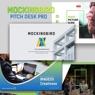 Mockingbird Pitch Desk Pro Powerpoint Template 65912