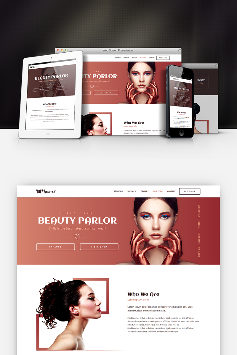 Naomi - Beauty Salon Muse Template