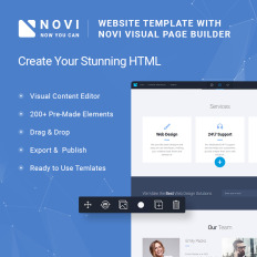 Business website free html template novi corporate business multipurpose with html builder wajeb Image collections