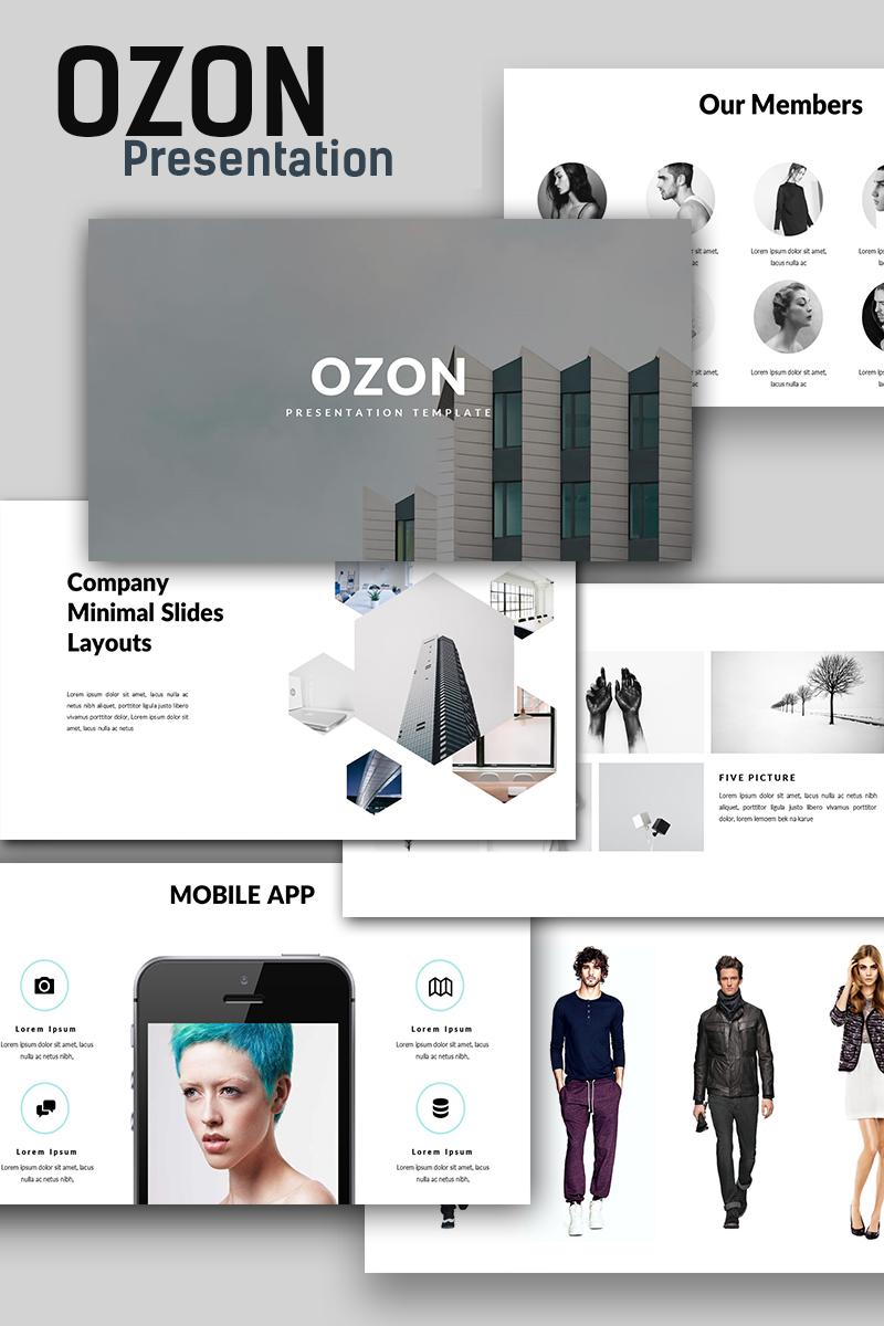 Ozon Minimal PowerPoint Template - screenshot