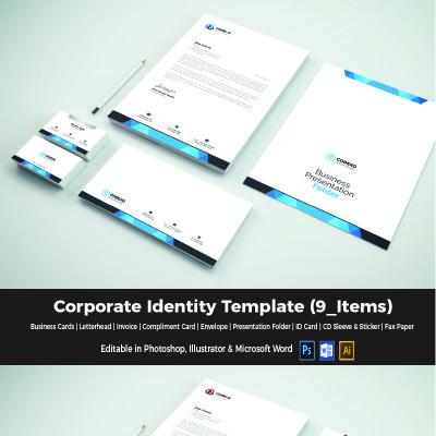 Plantilla de Identidad Corporativa #65974 para Sitio de Papelería