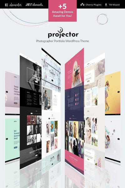 Projector - Photographer Portfolio WordPress Theme