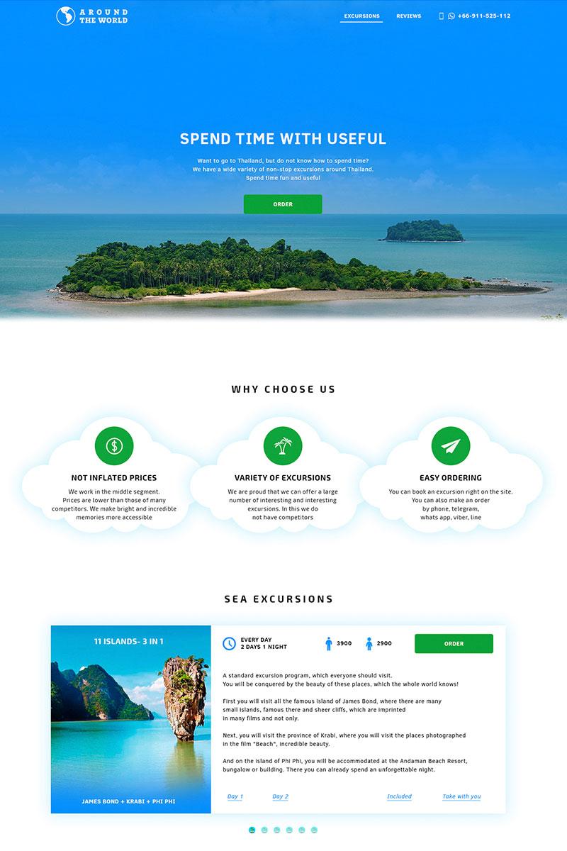 "PSD šablona ""Landing Page Travel"" #65988"