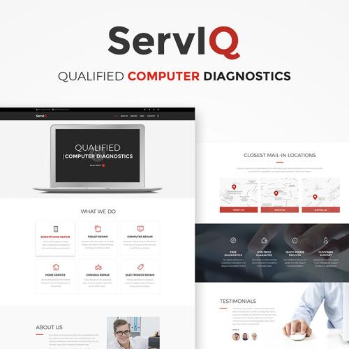 ServIQ Computer Repair Services - HTML5 WordPress Template